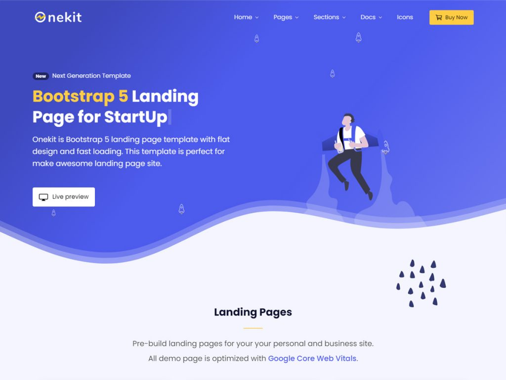 Bootstrap 5 landing page