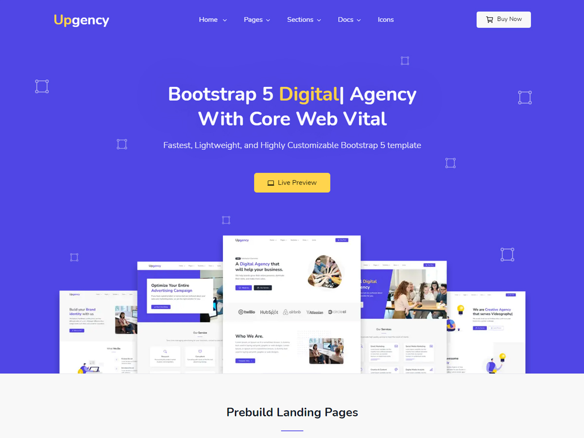 Bootstrap 5 Agency template